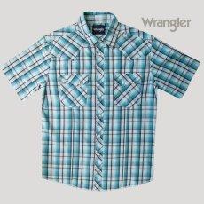 画像2: ラングラー 半袖 ウエスタンシャツ ターコイズブルーM/Wrangler Short Sleeve  Western Shirt (2)