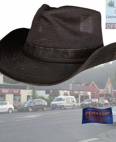 画像1: ペンドルトン メッシュ アウトバックハット(ダークブラウン)/Pendleton Weathered Cotton Mesh Outback Hat(Tobacco)