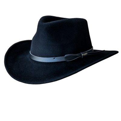 画像1: ブルハイド クラッシャブル ロールアップ プレミアムウール アウトドアハット(ブラック)/Bullhide Outland Crashable Rolled Up Premium Wool Hat(Black)