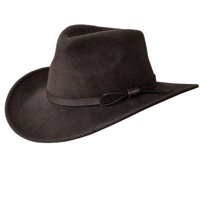 画像1: ブルハイド クラッシャブル ロールアップ プレミアムウール アウトドアハット(チョコレート)/Bullhide Outland Crashable Rolled Up Premium Wool Hat(Chocolate)
