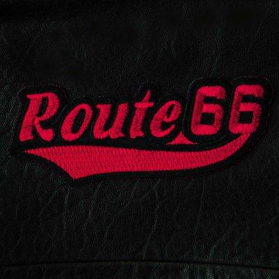 画像1: ワッペン ルート66(レッド・ブラック)/Patch Route 66