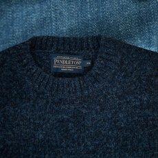 画像2: ペンドルトン シェトランド ウール セーター(インディゴヘザー)XS/Pendleton Shetland Wool Sweater Indigo Heather (2)