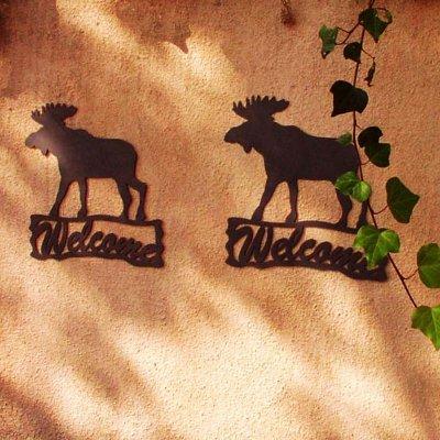 画像1: ムース ウェルカム サイン/Moose Welcome Sign