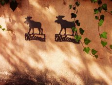画像2: ムース ウェルカム サイン/Moose Welcome Sign (2)