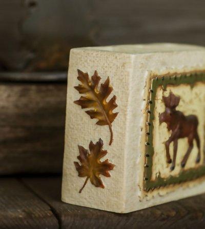 画像2: ハンドペイント ロッジ 歯ブラシホルダー(ムース&リーフ)/Logde Toothbrush Holder(Moose&Leaf)