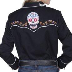 画像5: スカリー 刺繍 ウエスタン シャツ(長袖/シュガー スカル)XS/Scully Long Sleeve Western Shirt(Women's) (5)