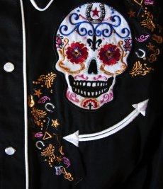 画像3: スカリー 刺繍 ウエスタン シャツ(長袖/シュガー スカル)XS/Scully Long Sleeve Western Shirt(Women's) (3)