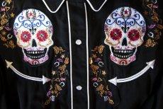 画像2: スカリー 刺繍 ウエスタン シャツ(長袖/シュガー スカル)XS/Scully Long Sleeve Western Shirt(Women's) (2)