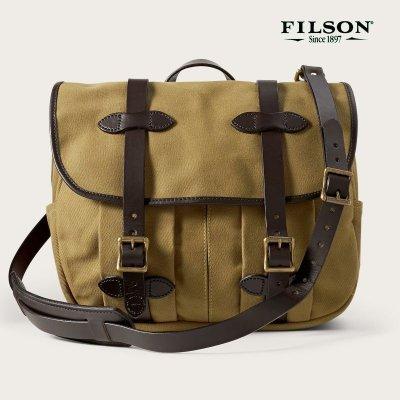 画像1: フィルソン ラージショルダーバッグ(カーキ)/Filson Medium Field Bag(Tan)