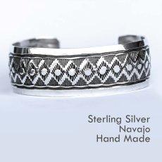 画像1: ナバホ スターリングシルバー ハンドメイド ブレスレット/Navajo Sterling Silver Bracelet (1)