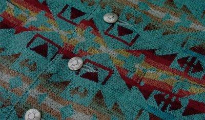 画像2: ペンドルトン U.S.A ヴァ-ジン ウール ベスト(ライトターコイズ)L/Pendleton U.S.A Virgin Wool Vest(Light Turquoise)
