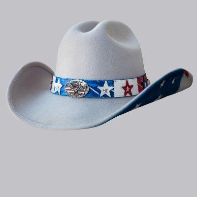 画像1: アメリカ&イーグル ウエスタン プレミアムウール ハット(シルバーベリー)/Western Premium Wool Hat(Silverbelly)