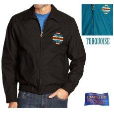 画像1: ペンドルトン チーフジョセフ ジャケット ターコイズ/Pendleton Jacket(Chief Joseph Turquoise) (1)