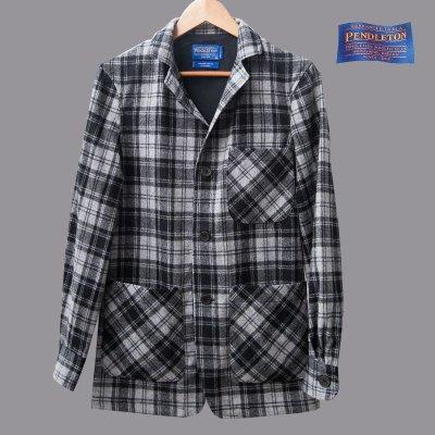画像1: ペンドルトン バージンウール トップスター ジャケット(グレー)フィッテッドXS/Pendleton Topster Jacket(Douglas Grey Tartan)