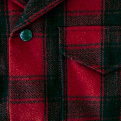 画像2: ペンドルトン ピュアーヴァ-ジンウールストリート クルーザー コート(レッド・ブラック)/Pendleton Street Cruiser Coat (Red Black)