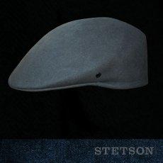 画像1: ステットソン ウール ドライビング キャップ(グレー)/Stetson Wool Driving Cap(Grey) (1)