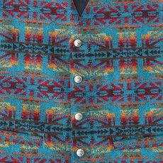 画像2: ペンドルトン U.S.A ヴァ-ジン ウール ベスト(ターコイズ・レッド)L/Pendleton U.S.A Virgin Wool Vest(Turquoise/Red) (2)