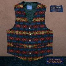 画像1: ペンドルトン U.S.A ヴァ-ジン ウール ベスト(ブラック・ブルー・バーガンディー)L/Pendleton U.S.A Virgin Wool Vest(Black/Blue/Burgundy) (1)