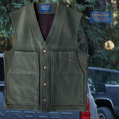画像1: ペンドルトン ヘリテッッジ リミテッドエディション ウールベスト(フォレストグリーン)M/Pendleton Heritage Limited Edition Wool Vest(Forest Green)