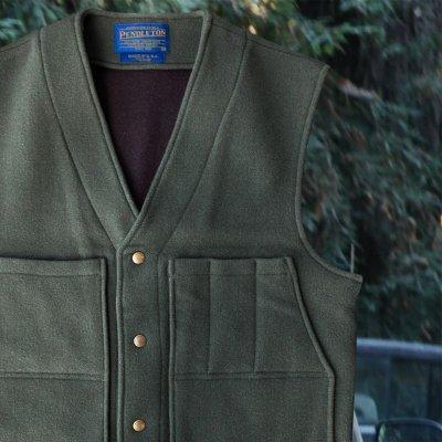画像2: ペンドルトン ヘリテッッジ リミテッドエディション ウールベスト(フォレストグリーン)M/Pendleton Heritage Limited Edition Wool Vest(Forest Green)