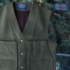 画像1: ペンドルトン ヘリテッッジ リミテッドエディション ウールベスト(フォレストグリーン)M/Pendleton Heritage Limited Edition Wool Vest(Forest Green) (1)
