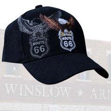 画像1: ルート66 イーグル キャップ/Route 66 Cap(Black) (1)