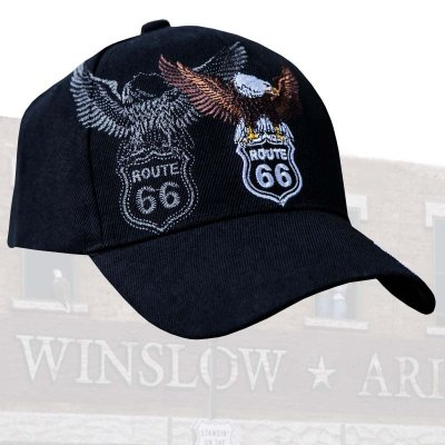 画像2: ルート66 イーグル キャップ/Route 66 Cap(Black)