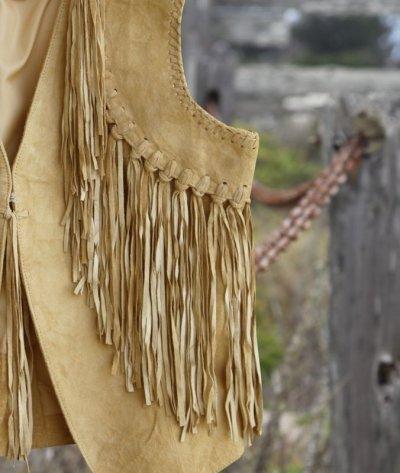 画像2: スカリー ウエスタン フリンジ ベスト(シャミー)/Scully Western Fringe Vest(Women's)