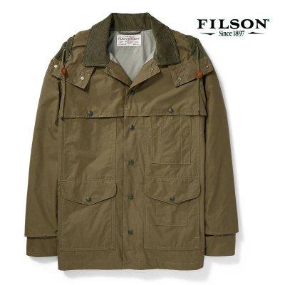 画像1: フィルソン ライトウェイト ドライクロス クルーザー(マーシュオリーブ)/Filson Lightweight Dry Cloth Cruiser(Marsh Olive)