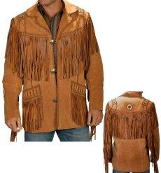 画像5: ウエスタン レザーフリンジジャケット(ブラック)/Western Leather Fringe Jacket (5)