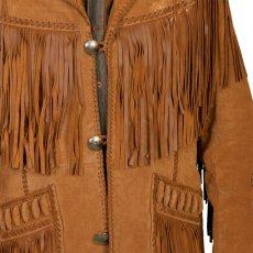 画像4: ウエスタン レザーフリンジジャケット(ブラック)/Western Leather Fringe Jacket (4)