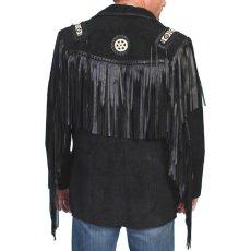 画像3: ウエスタン レザーフリンジジャケット(ブラック)/Western Leather Fringe Jacket (3)