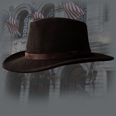 画像1: クラッシャブル&ロールアップ ウールフェルト ハット(ブラウン)/Crushable Wool Felt Hat(Brown)