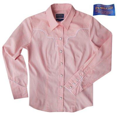 画像1: ペンドルトン レディース ウエスタン シャツ(長袖・ピンク)/Pendleton Long Sleeve Western Shirt(Women's)