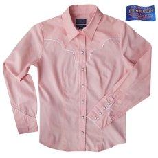 画像1: ペンドルトン レディース ウエスタン シャツ(長袖・ピンク)/Pendleton Long Sleeve Western Shirt(Women's) (1)