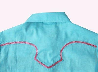画像2: ローパー ステッチ ウエスタンシャツ ターコイズ・ピンク(長袖/レディース)/Roper Long Sleeve Western Shirt(Women's)