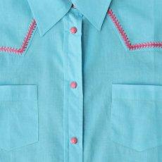 画像3: ローパー ステッチ ウエスタンシャツ ターコイズ・ピンク(長袖/レディース)/Roper Long Sleeve Western Shirt(Women's) (3)