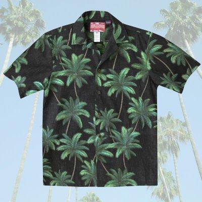画像1: RJC ロバート・J・クランシー アロハシャツ パームツリー(ブラック・グリーン)/RJC ROBERT J. CLANCEY Aloha Shirt