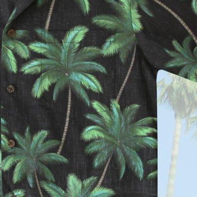 画像3: RJC ロバート・J・クランシー アロハシャツ パームツリー(ブラック・グリーン)/RJC ROBERT J. CLANCEY Aloha Shirt