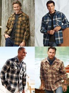 画像4: ペンドルトン ウールシャツ ビンテージフィット ボードシャツ クラレット・タン/Pendleton Vintage Fit Board Shirt (4)