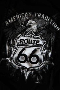 画像2: ルート66 半袖Tシャツ(ブラック・イーグル)/Route 66 T-shirt (2)