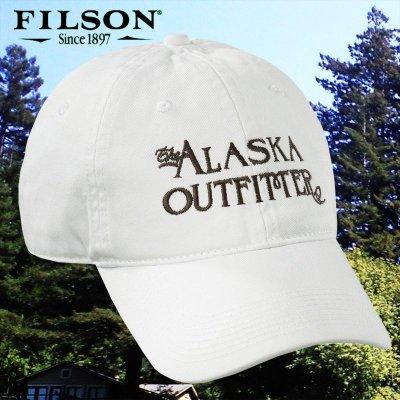 画像1: フィルソン アラスカ アウトフィッターズ キャップ(ホワイト)/Filson Cap