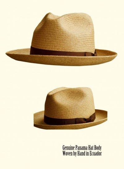 画像1: パナマ フェドラ ハット/Straw Hat