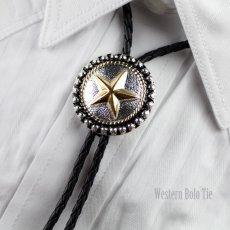 画像2: ボロタイ スター(シルバー・ゴールド・ブラック)/Western Bolo Tie Star (2)