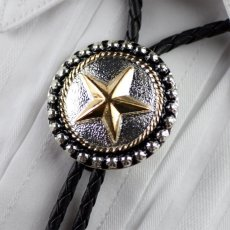 画像1: ボロタイ スター(シルバー・ゴールド・ブラック)/Western Bolo Tie Star (1)