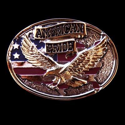 画像1: モンタナシルバースミス ベルト バックル イーグル アメリカンプライド/Montana Silversmiths Belt Buckle American Pride