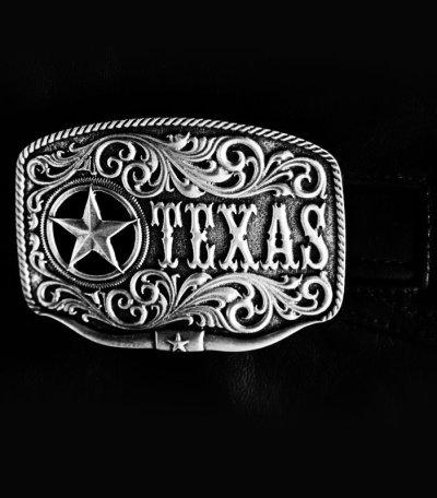 画像1: モンタナシルバースミス ベルト バックル テキサス ローンスター ロングホーン/Montana Silversmiths Belt Buckle