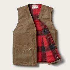 画像2: フィルソン マッキーノウールラインド ティンクロス クルーザー ベスト(ダークタン)XS/Filson Lined Cruiser Vest(Dark Tan) (2)