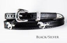 画像3: ハット バンド ランニング ホース(ブラック)/Hat Band Leather w/Running Horses(Black) (3)