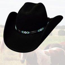 画像1: ブルハイド カウボーイハット シークレットメッセージ(ブラック)/Bullhide Cowboy Hat Secret Message(Black) (1)